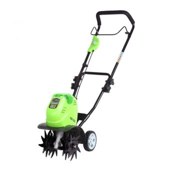 toptopdeal Greenworks battery-powered tiller G40TL (Li-Ion 40 V battery-powered tiller with specially hardened 4 blades working depth 20 cm working width 26 cm without battery and charger)