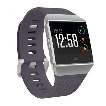 toptopdeal Fitbit Ionic Health & Fitness Smartwatch (GPS) with Heart Rate, Swim Tracking & Music-Blue Silver-Grey, One Size