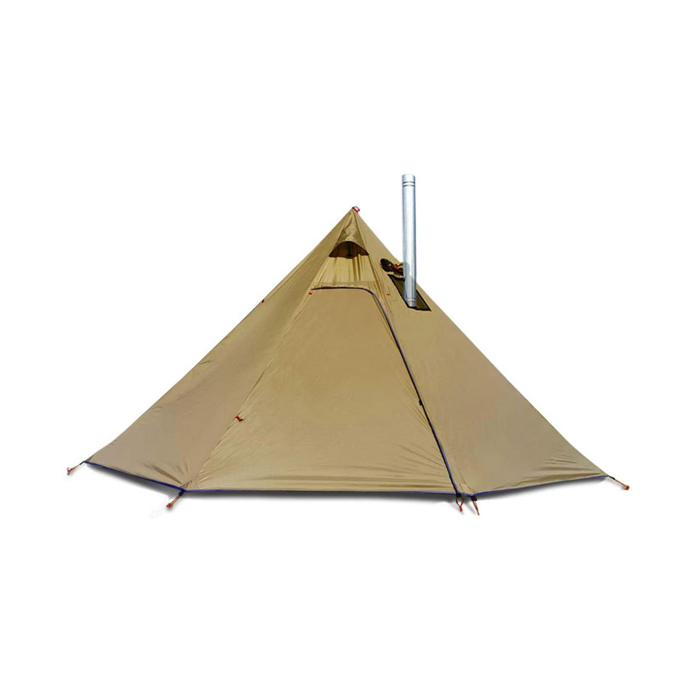 """toptopdeal 4 Persons Tipi Hot Tents 7'3"""" Standing Room, Lightweight with Stove-Jack, for Hunting Backpacking Camping Hiking Family Team"""