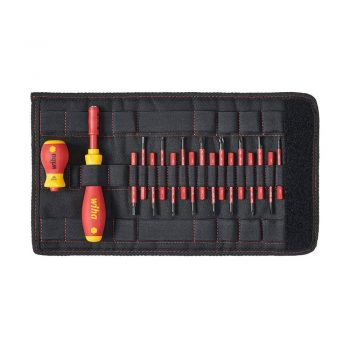 toptopdeal wiha 2831T18, slimVario Screwdriver and Bits Set, with Stubby in bag, VDE Insulated, (41231), 18 Pieces, SLOTTED - POZIDRIV - PHILIPS - SL/POZI - STAR - HEX