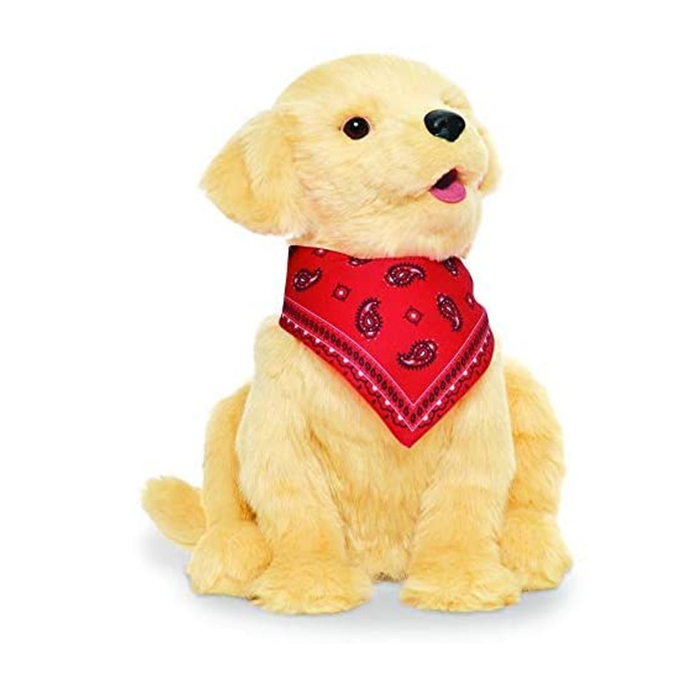 toptopdeal Joy For All B9108 Companion Pet Golden Pup, Gold, 9.016 inches Tall