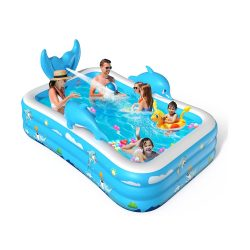 toptopdeal VOXON Inflatable Swimming Pool, Padding Pool Swim Centre Pools for Kids Adults Family Indoor Outdoor Garden Toys Game Above Ground, Backyard, Garden, Summer...