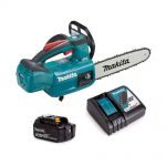 toptopdeMakita DUC254RF 18v LXT Cordless Brushless 25cm Chainsaw Top Handle 1 x 3.0ahal 7
