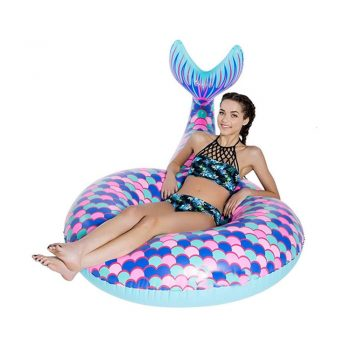 toptopdeal DKEE pool inflatable Summer Beach Seaside Pool Mermaid Tail Swimming Ring Water Inflatable Adult Toys Super Floating Row Floating Sofa Bed Swimming Lifebuoy...