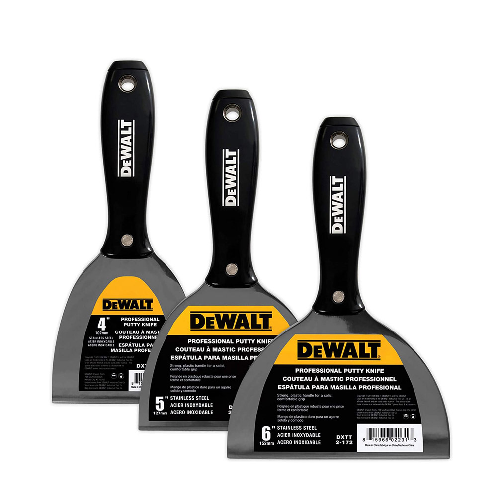 toptopdeal DEWALT Stainless Steel Putty Knife 3-Pack | 4/5/6-Inches | DXTT-3-170