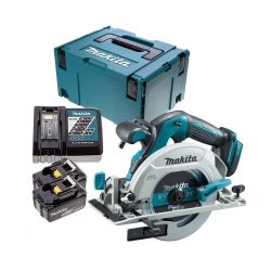tptopdeal Makita DHS680Z 18V Brushless Circular Saw with 2 x 5Ah Batteries, Charger, Case & Inlay