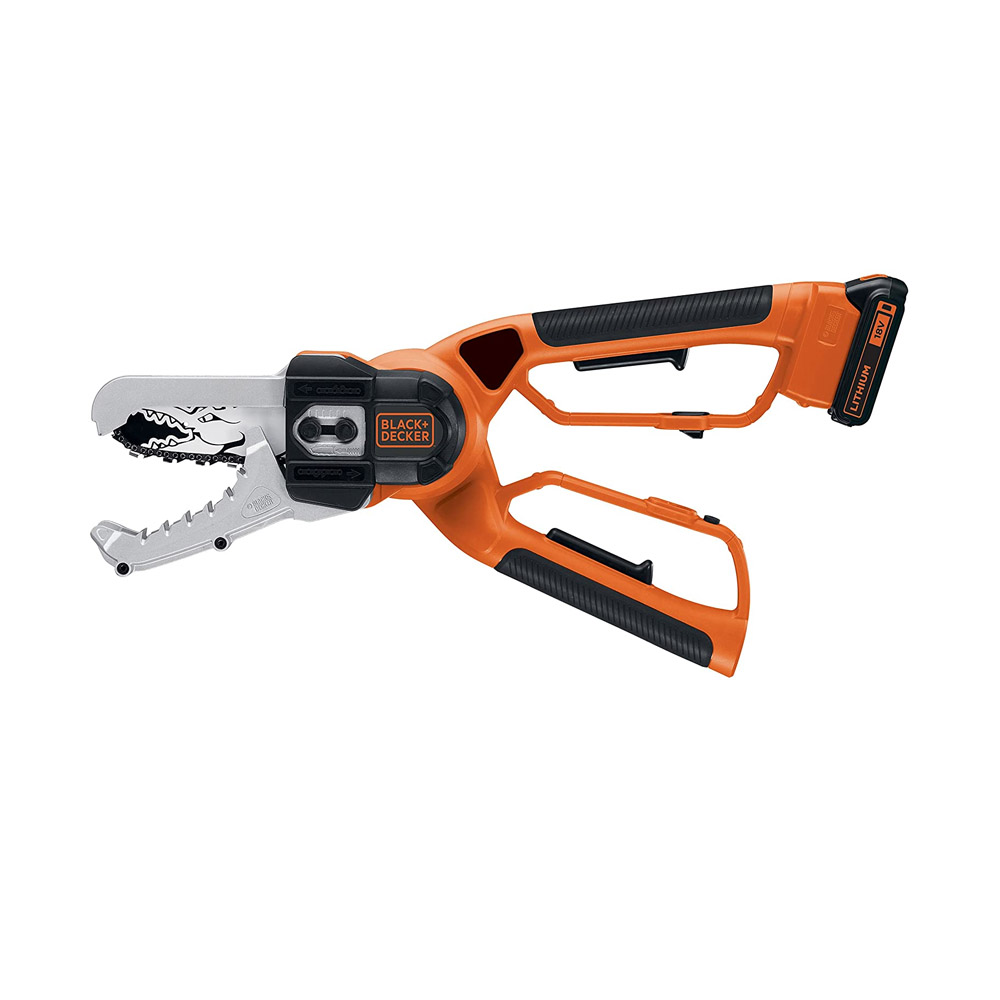 toptopdeal Black + Decker +GKC1000L-QW Battery-Powered Pruning Shears 18 V Lithium-Ion with 10 CM Blade Length