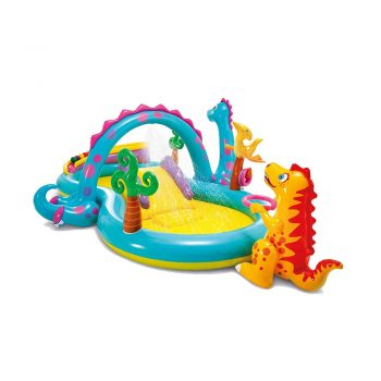 toptopdeal ZHMIAO Dinosaur Inflatable Swimming Pool, Swim Pools for Kids Adults Family Indoor Outdoor Garden Toys Game Above Ground, Backyard, Garden, Summer Water Party