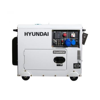 toptopdeal-Hyundai 5 2kW Silenced Diesel Generator 52 W 230 V White and Black DHY6000SE