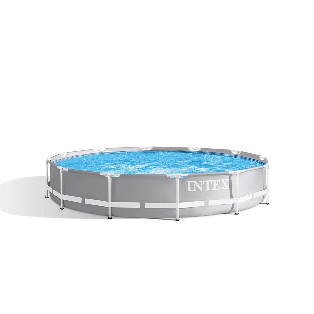 toptopdeal-Intex 12Ft X 30In Prism Metal Frame Swimming Pool, Multi Colour