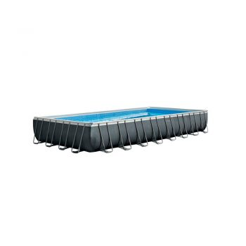 toptopdeal-Intex 32ft x 16ft x 52inch Rectangular Ultra XTR Metal Frame Swimming Pool with Sand Filter