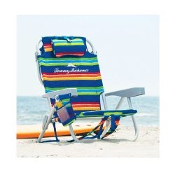 toptopdeal-The Tommy Bahama Back Pack Beach Chair (Blue Stripe)