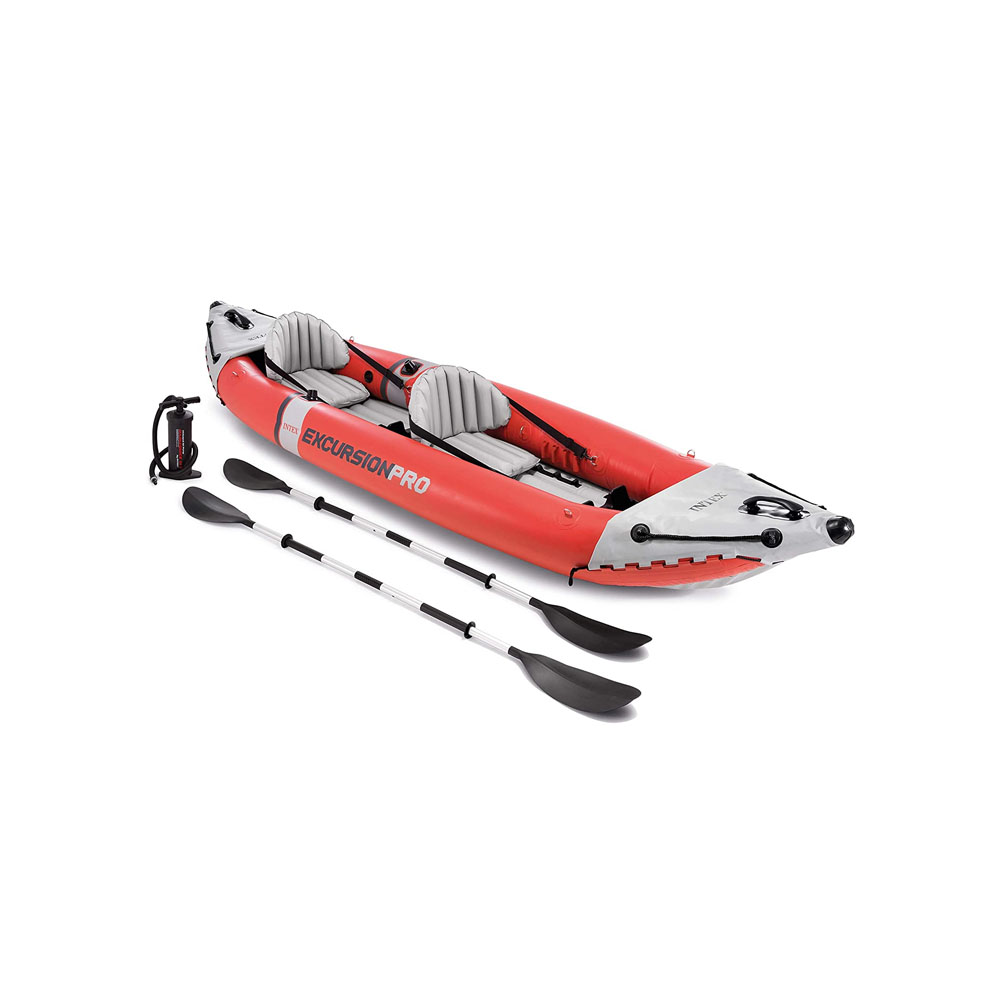 toptopdeal-Intex Unisex's Excursion Pro K2 Inflatable Kayak, Red